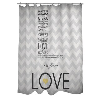 Thumbprintz L is for Love Shower Curtain