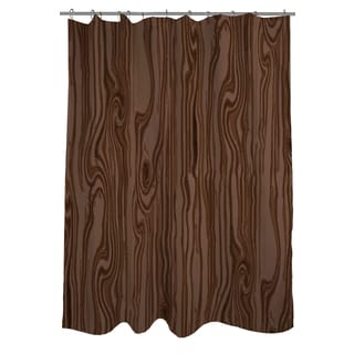Thumbprintz Wood Grain Large Scale Brown Shower Curtain