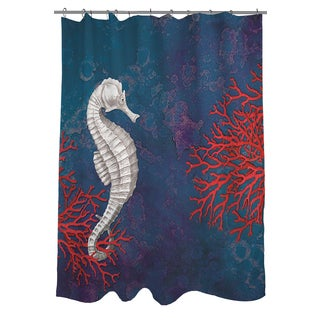 Thumbprintz Seastar Bay Seahorse Shower Curtain