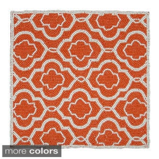 Celebration Moroccan Hand-beaded Place Mats (Set of 2)