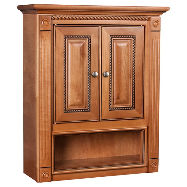 Marquis Cinnamon Maple Bathroom Wall Cabinet 16553834 Overstock