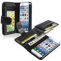 INSTEN Black Cash Holder Wallet Leather Phone Case Cover for Apple iPhone 6 4.7-inch