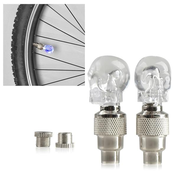 INSTEN Car Bicycle Bike LED Tyre Skull Light (Pack of 2)