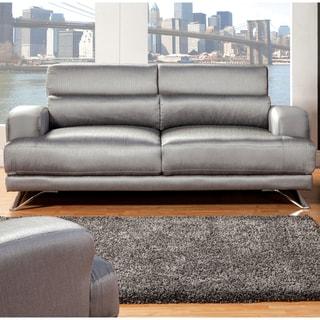Furniture of America Juella Silver Upholstered Modern Sofa
