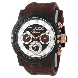 Mulco Men's 'Ilusion' Black stainless steel Watch