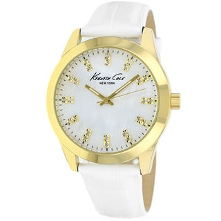 Kenneth Cole Women's KCW2024 Classic White Leather Watch