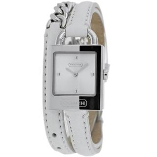 Coach Women's 14501931 Classic White Leather Chain Wrap Watch