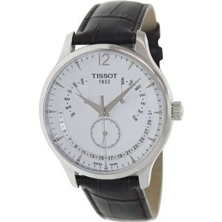 Tissot Men's T0636371603700 Tradition Black Leather Watch