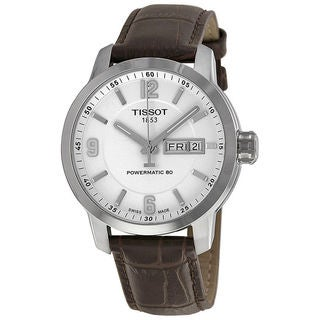 Tissot Men's PRC 200 Automatic White Dial Black Leather Watch