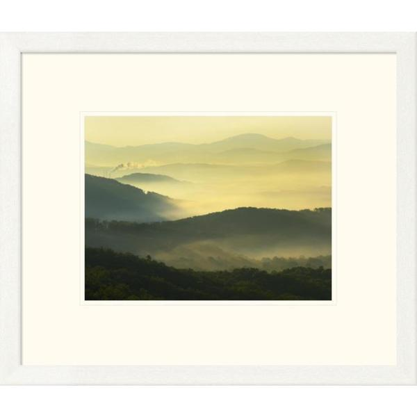 Tim Fitzharris 'Shining Rock Wilderness from the Blue Ridge Parkway, North Carolina' Framed Art Print