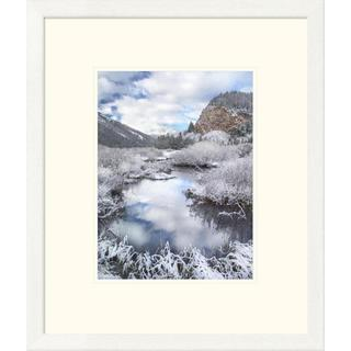 Tim Fitzharris 'Boulder Mountains and Summit Creek dusted with snow, Idaho' Framed Art Print