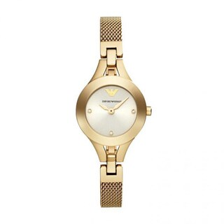 Emporio Armani Women's AR7363 Chiara Goldtone Mesh Watch