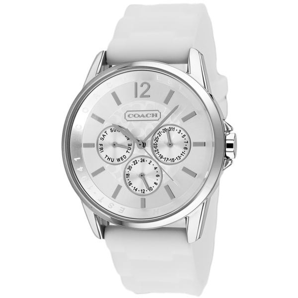 Coach Women's 14501879 White Signiture Sport Chronograph Watch