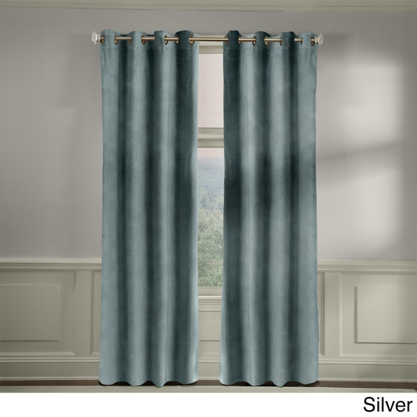 Grand Luxe Velvet Soft Luxury Grommet Top Curtain Panel