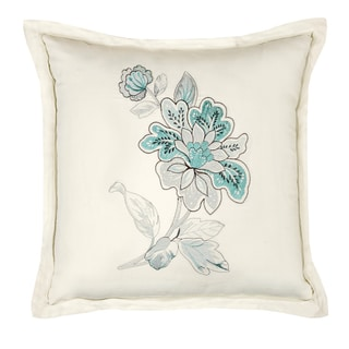 Veratex Bellevue Embroidered 18-inch Throw Pillow