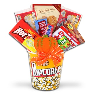 Fall Movie Night Gift Basket