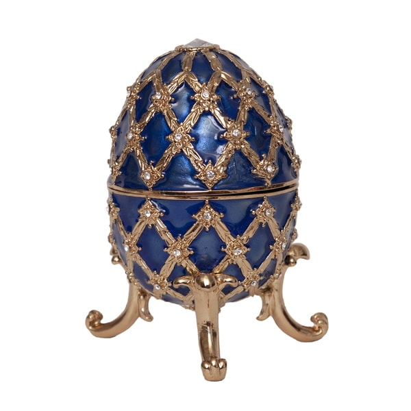 Faberge-style Musical Egg Trinket Box