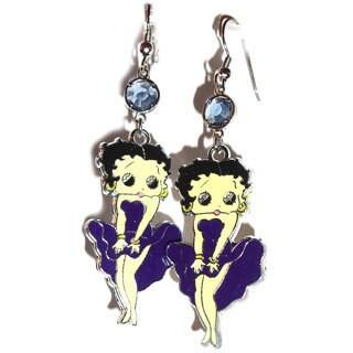Diamonds by Sonja Beautiful Betty Boop Crystal Earrings