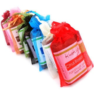 Handmade Natural Soap and Vegan Moisturizing Lip Balm Mini Gift Sets (10 pack)