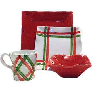 Tartan Twist Christmas Dinnerware Bundle (Italy)