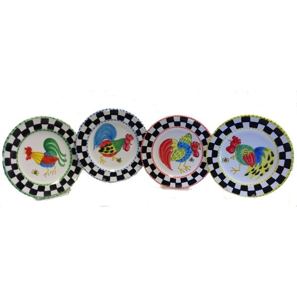 Set of 4 Proud Fools Pattern Decorative Plate Bundle (Italy)