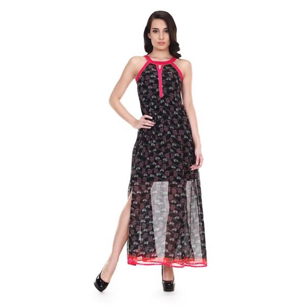 Global Desi Women's Boho Printed Sleeveless Maxi Dress (India) 13814501