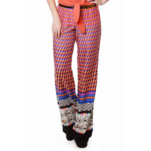 Global Desi Women's Boho Multi-stripe Pants (India)