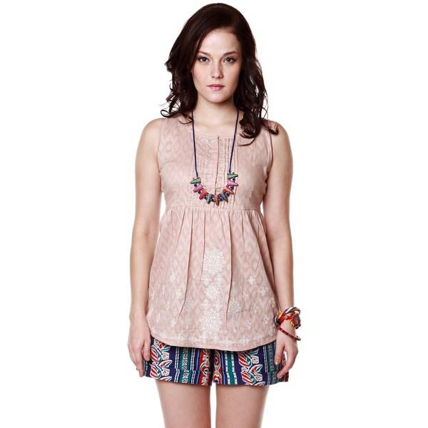 Global Desi Women's Boho Diamond Print Sleeveless Top (India) 13814563