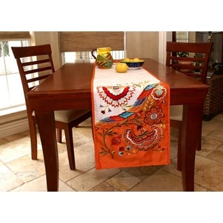 Floral Embroidered Table Runner (India)