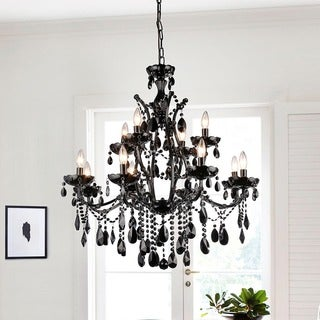 Russhelle 12-light Black Chandelier