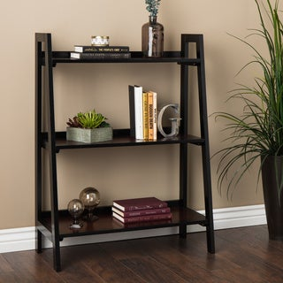Linon Camden Black Cherry 3-shelf Bookcase