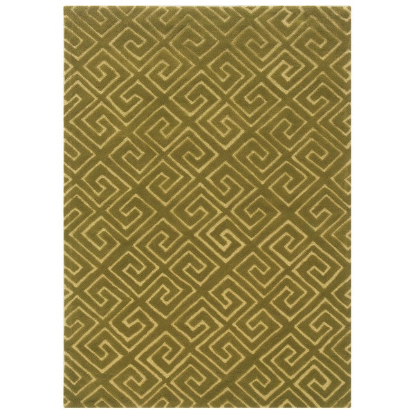 Bombay Outlet Fret Green Area Rug (8' x 10')
