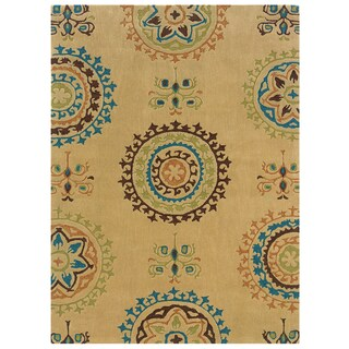Bombay Outlet Suzani Cream Area Rug (8' x 10')