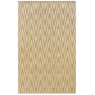 Bombay Outlet Green Chevron Area Rug (8' x 11')