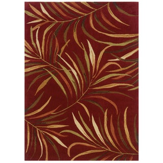 Bombay Outlet Lanai Red Area Rug (5' x 7')