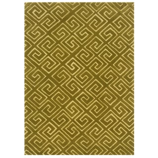 Bombay Outlet Fret Yellow Area Rug (2' x 3')