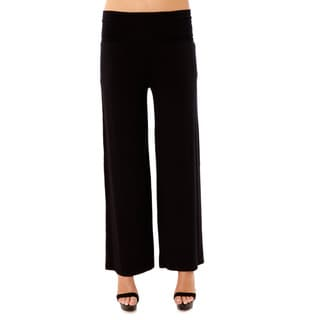Moss�e Women's Black Micromodal Folded Pants