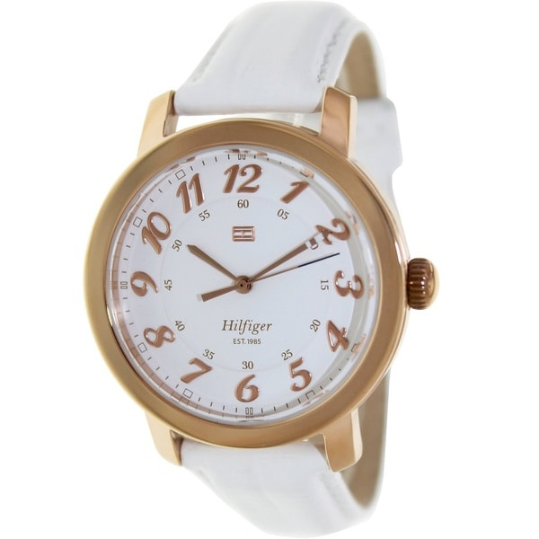 Tommy Hilfiger Women's 1781220 Olivia White Leather Watch