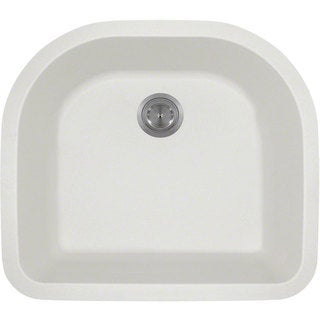 Polaris Sinks P428W White Astragranite D-Bowl Kitchen Sink