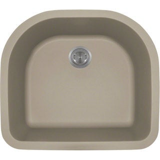 Polaris Sinks Slate Astragranite D-Bowl Kitchen Sink