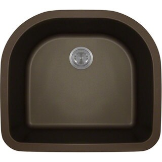 Polaris Sinks Mocha Astragranite D-Bowl Kitchen Sink