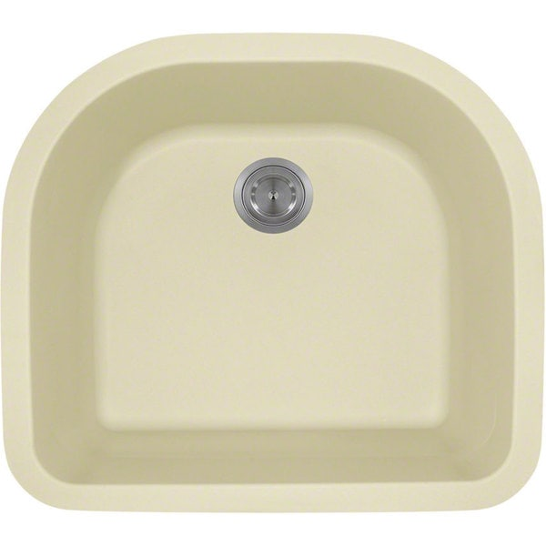 Polaris Sinks P428BE Beige Astragranite D-Bowl Kitchen Sink