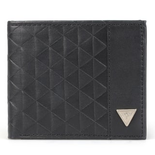 Guess Men's Genuine Leather Passcase Bi-fold Wallet