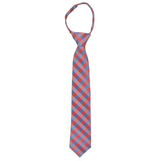 Vance Boy's Silk Touch Microfiber Zippered Tie