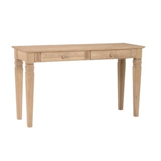Solid Parawood Java 2-drawer Sofa Table