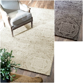 nuLOOM Hand-tufted Ornate Wool Fancy Rug (5' x 8')