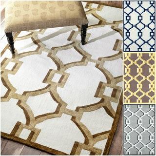 nuLOOM Handmade Cotton/ Wool Elegance Geometric Rug (8' x 10')