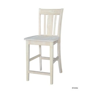 San Remo Unfinished Solid Parawood Stool