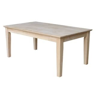 Shaker Unfinished Solid Parawood Tall Coffee Table