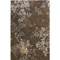 Linon Ashton Charcoal/ Gold Area Rug (4' x 6')